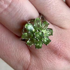 Jewelry - Sterling 925 Peridot Ring Size 7.5